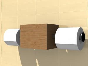 ROLBOX 3D_dubbel toiletrolhouder